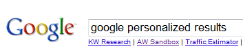 I can't stand personalized search! I can't even stand the idea of it!