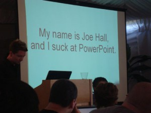 Joe Hall, Powerpoint